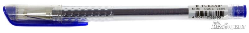 Иллюстрация 1 из 2 для Ручка гелевая. Синяя. В прозрачном корпусе (TZ 118син.) | Лабиринт - канцтовы. Источник: Лабиринт
