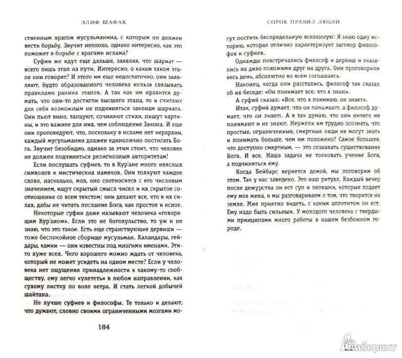 Иллюстрация 1 из 10 для Сорок правил любви - Элиф Шафак | Лабиринт - книги. Источник: Лабиринт