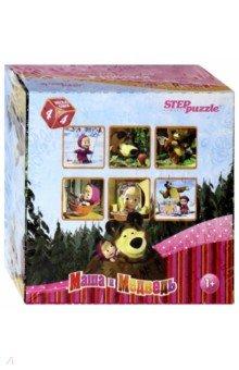 """Кубики для самых маленьких """"Маша и Медведь"""". 4 штуки (87132)"""