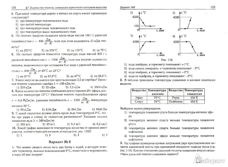Тематические тесты по физике в форме 7 класс