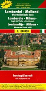 Lombardy. Italian Lakes. Milan. Карта 1:150 000