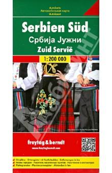 Сербия южная. Карта. Serbia south 1:200000 serbia montenegro macedonia 1 500 000