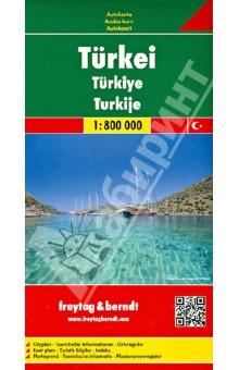 Турция. Карта. Turkey. Turkei 1:800 000