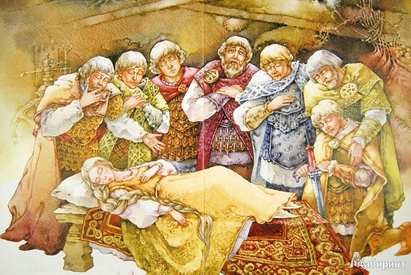 Иллюстрация 1 из 29 для Сказка о мертвой царевне и семи богатырях - Александр Пушкин | Лабиринт - книги. Источник: Лабиринт