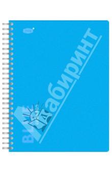"""Тетрадь 96 листов, клетка """"Blue"""" с пластиковой линейкой-разделителем (83318)"""