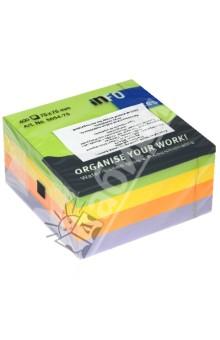 Блок-кубик для заметок с клейким краем, 4 цвета, 75х75 мм, 400 листов (5654-75)