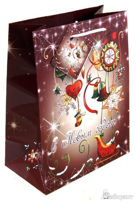 """Иллюстрация 1 из 2 для Пакет бумажный """"Новый год"""". 18х23х10 см. (31438)   Лабиринт - сувениры. Источник: Лабиринт"""