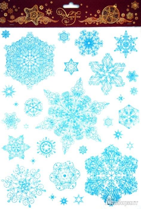 Иллюстрация 1 из 6 для Украшение новогоднее оконное Снежинки (31242)   Лабиринт - игрушки. Источник: Лабиринт
