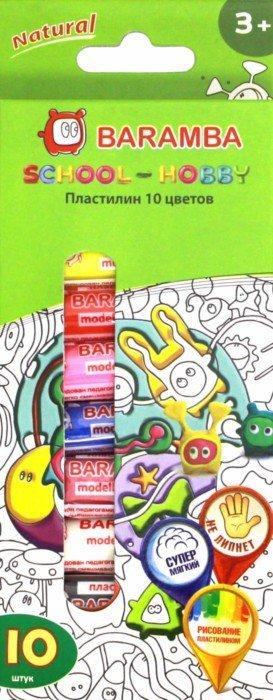 Иллюстрация 1 из 4 для Пластилин 10 цветов 14гр + раскраска (B26010) | Лабиринт - игрушки. Источник: Лабиринт