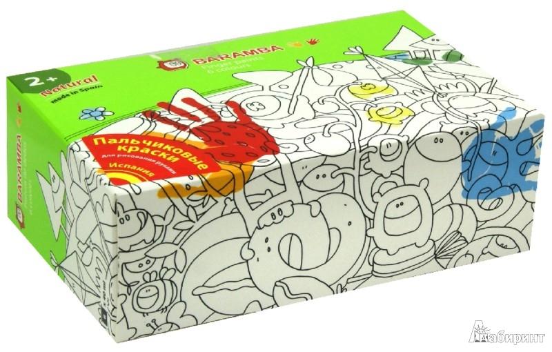 Иллюстрация 1 из 11 для Краски пальчиковые 6 цветов 40мл (B00536) | Лабиринт - канцтовы. Источник: Лабиринт