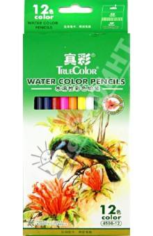 Карандаши акварельные 12 цветов деревянные (4586-12)