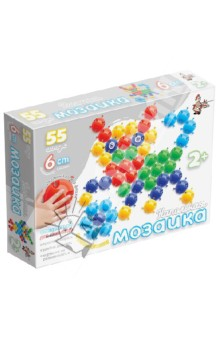 Мозаика напольная 55 элементов, диаметр фишки 60мм (01536) мозаика напольная 55 элементов