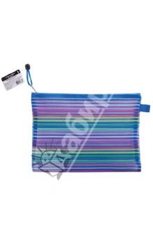"Папка-конверт на молнии ""Stripes"" B5+ (224047) Brauberg"