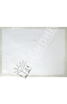 Папка на кнопке. А4. Пластиковая. Белая (CY209-12-W)