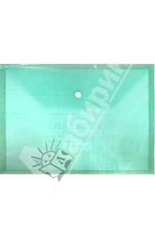 Папка на кнопке. А4. Пластиковая. Зеленая (CY209-12-G)