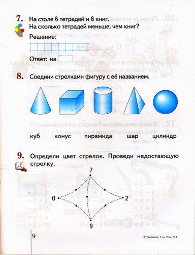 Иллюстрация 1 из 5 для Математика: 1 класс: Рабочая тетрадь № 2 для учащихся общеобразовательных учреждений - Виктория Рудницкая | Лабиринт - книги. Источник: Лабиринт