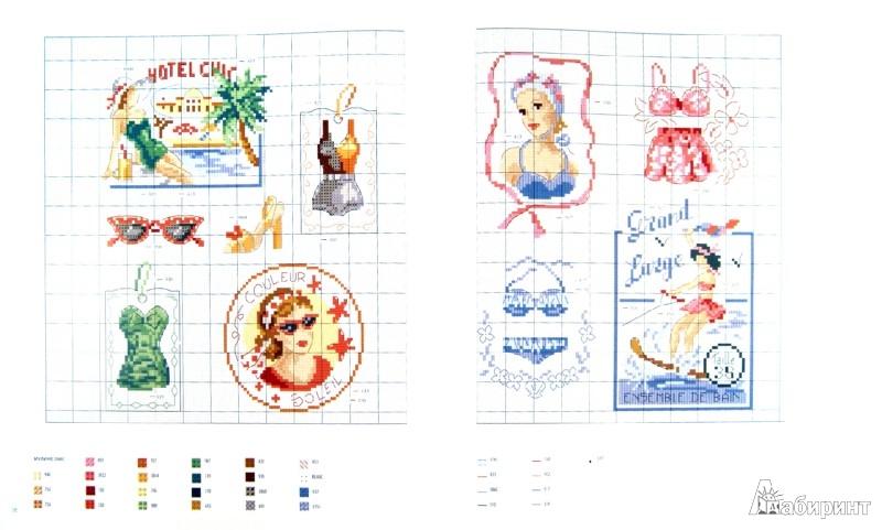 Иллюстрация 1 из 38 для Вышивка крестиком для настоящих модниц - Вероник Ажинер | Лабиринт - книги. Источник: Лабиринт