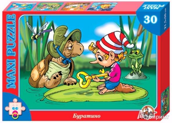 Иллюстрация 1 из 3 для Буратино. Пазл-30 макси (00204) | Лабиринт - игрушки. Источник: Лабиринт
