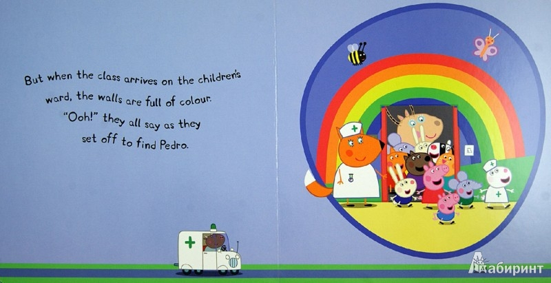 Иллюстрация 1 из 21 для Peppa Pig: Peppa Goes to Hospital: My First Storybook | Лабиринт - книги. Источник: Лабиринт