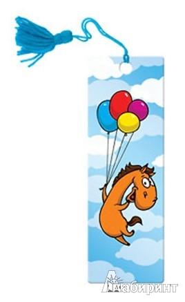 """Иллюстрация 1 из 3 для Сувенир. 3D-закладка """"Лошадь с шариками"""" (52128)   Лабиринт - канцтовы. Источник: Лабиринт"""