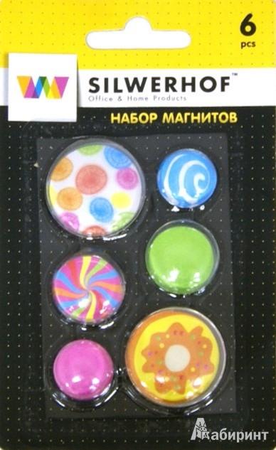 Иллюстрация 1 из 6 для Цветные магниты CANDY 18/22/30мм, 6шт (658009)   Лабиринт - канцтовы. Источник: Лабиринт