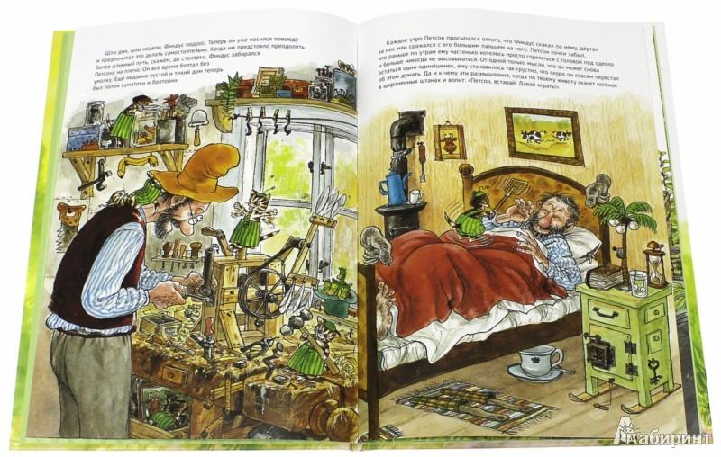 Иллюстрация 1 из 55 для История о том как Финдус потерялся, когда был маленьким - Свен Нурдквист | Лабиринт - книги. Источник: Лабиринт