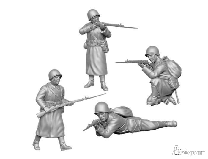 Иллюстрация 1 из 11 для Советская пехота 1941-42 гг. (зима) (6197) | Лабиринт - игрушки. Источник: Лабиринт