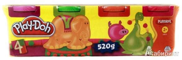 Иллюстрация 1 из 2 для Набор пластилина из 4 штуки неоновый цвет (22114/22873Н) | Лабиринт - игрушки. Источник: Лабиринт