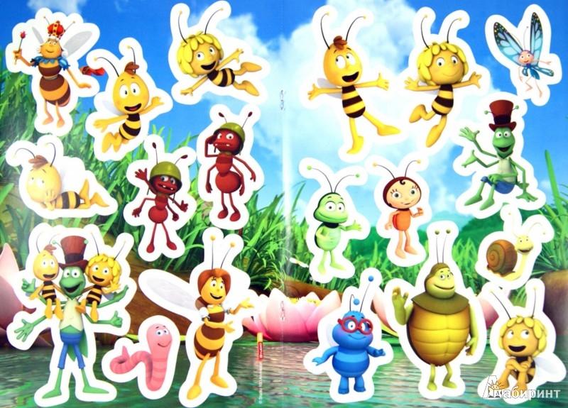 Иллюстрация 1 из 6 для Пчелка Майя. Раскраска с наклейками   Лабиринт - книги. Источник: Лабиринт
