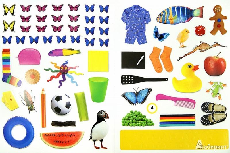 Иллюстрация 1 из 62 для Цвета. Наклеивай и учись | Лабиринт - книги. Источник: Лабиринт