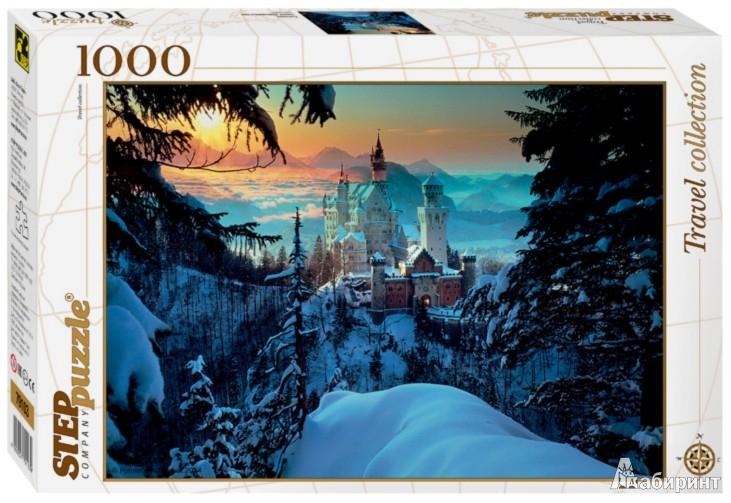 """Иллюстрация 1 из 5 для Step Puzzle-1000 """"Бавария. Замок Нойшванштайн"""" (79103)   Лабиринт - игрушки. Источник: Лабиринт"""