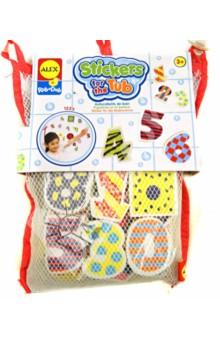 Набор фигурок-стикеров для ванны Цифры (632W) alex игрушки для ванны 3 цветные лодочки