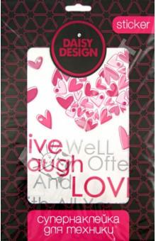 Наклейка для техники Сердца. Sweet Hearts (51488) наклейки для техники daisy design наклейка для техники sweet heart ключ от сердца