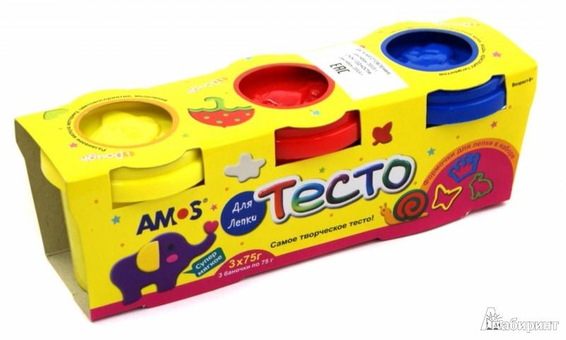 Иллюстрация 1 из 5 для Тесто для лепки с формами, 3 цвета (32200) | Лабиринт - игрушки. Источник: Лабиринт