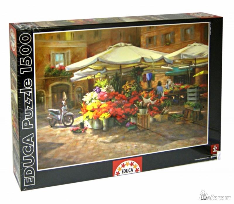 """Иллюстрация 1 из 2 для Пазл-1500 """"Цветочный рынок"""" (16010)   Лабиринт - игрушки. Источник: Лабиринт"""