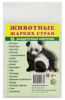 """Раздаточные карточки """"Животные жарких стран"""" (63х87 мм)"""