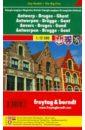 Обложка Антверпен.Брюгге. Гент. Карта-покет 1: 12500.