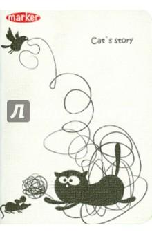 """Записная книжка """"Cat story"""" (А6, в клетку, 12 дизайнов) (M-820640N)"""