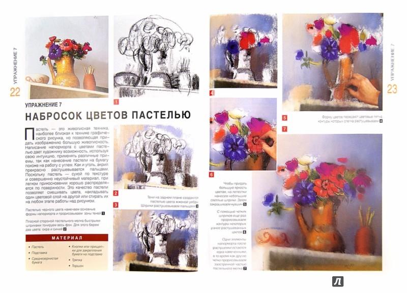 Иллюстрация 1 из 18 для Рисуем цветы. Экспресс - курс - Myriam Ferron   Лабиринт - книги. Источник: Лабиринт
