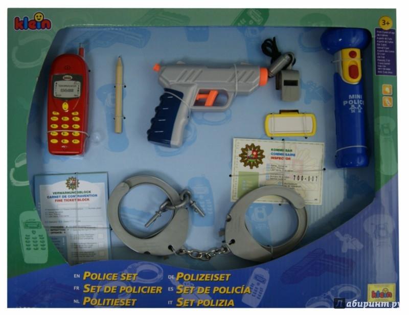 Иллюстрация 1 из 2 для Набор полицейского с пистолетом, 10 предметов (8800)   Лабиринт - игрушки. Источник: Лабиринт