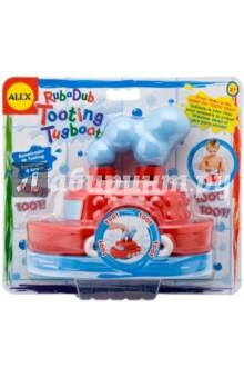 Игрушка для ванны Гудящий пароходик (826) alex игрушки для ванны 3 цветные лодочки