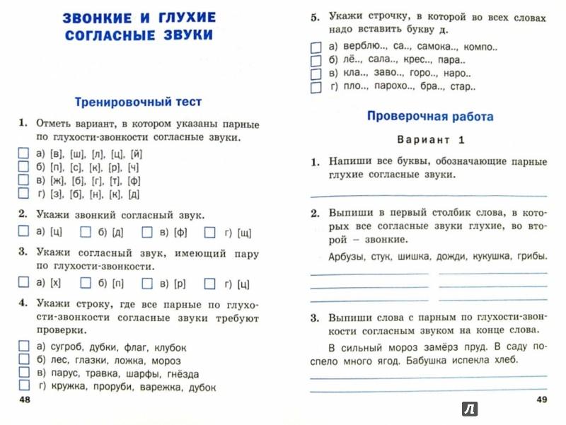 Проверочные задания по русскому языку для второго класса школа