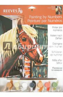 """Набор для раскрашивания по номерам акриловыми красками детский """"Лошадь в стойле"""" (PPPNJ19)"""