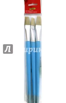Кисть щетина №22 плоская 3 штуки в упаковки (BBP-22F)