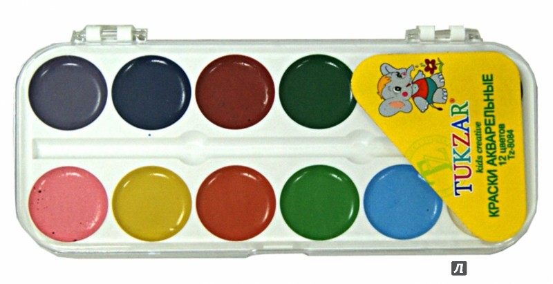 Иллюстрация 1 из 2 для Краски акварельные (12 цветов) (TZ 8084) | Лабиринт - канцтовы. Источник: Лабиринт