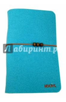 Блокнот на кольцах голубой в линейку, А5- (120 листов) (070219)