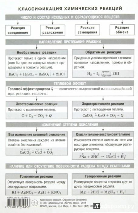 Иллюстрация 1 из 4 для Химические реакции   Лабиринт - книги. Источник: Лабиринт