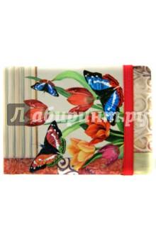 """Записная книжка """"Бабочки и тюльпан"""" (А7, 192 страницы) (33866-30)"""