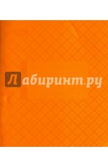Тетрадь 18 листов, клетка, пластиковая обложка, оранжевая (120106)