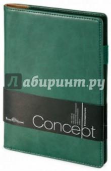 """Еженедельник недатированный """"Concept"""" (А5, зеленый) (3-322/190)"""